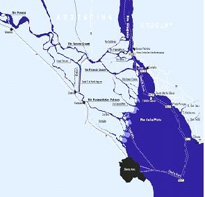 Hidrovía Paraná-Paraguay  El tramo barcacero desde Santa Fe